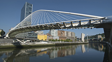 Calatrava Footbridge Bilbao Spain